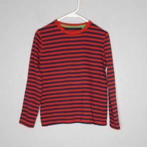 Mini Boden Red & Blue Striped Cotton Shirt